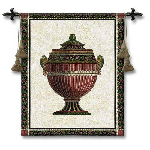 Empire Urn I Woven Wall Tapestry