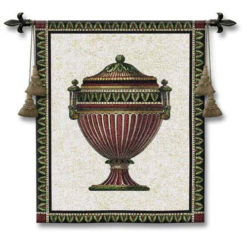 Empire Urn II Woven Wall Tapestry