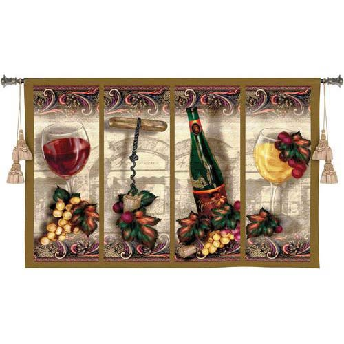 Nouveau Wine Tapestry Wall Hanging