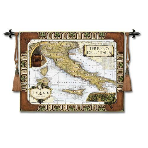 Italian Wine Country Woven Wall Tapestry