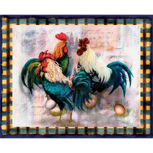 Rooster Trio Throw