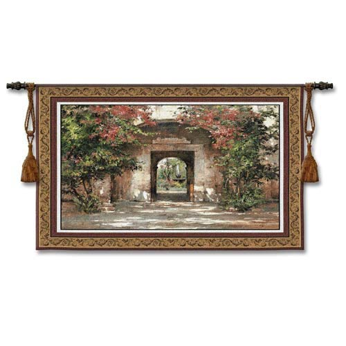 Flowered Doorway Woven Wall Tapestry