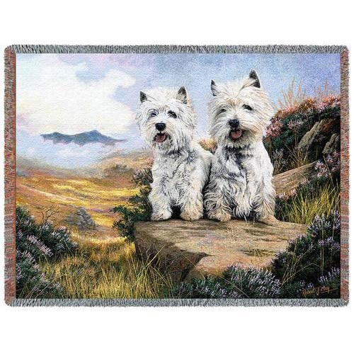 West Highland Terriers Throw
