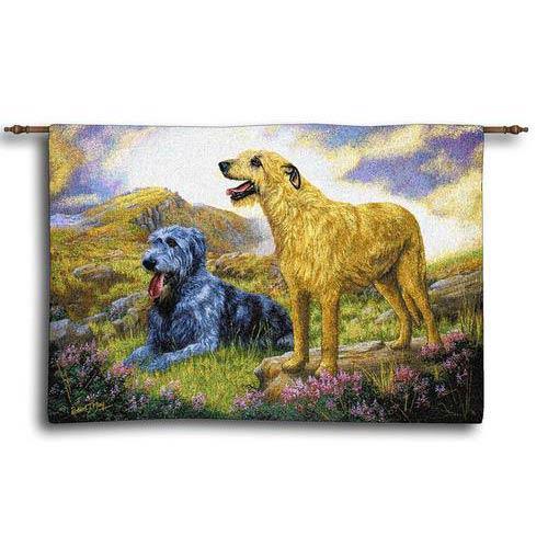 Pure Country Weavers Irish Wolfhound Wall Tapestry