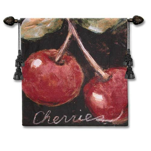 Ripe Cherries Woven Wall Tapestry