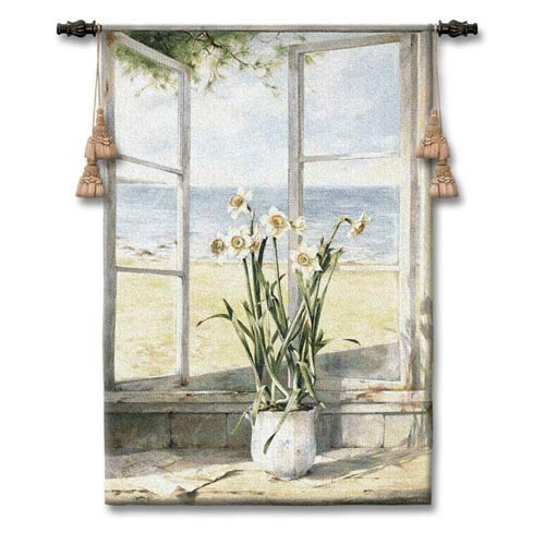 Ocean Narcissus Woven Wall Tapestry