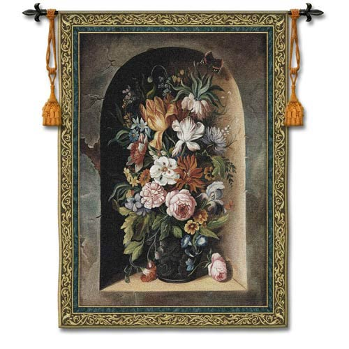 Flowers Of Harmony Small Woven Wall Tapestry