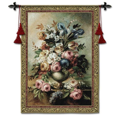 Mothers Bouquet Large Woven Wall Tapestry