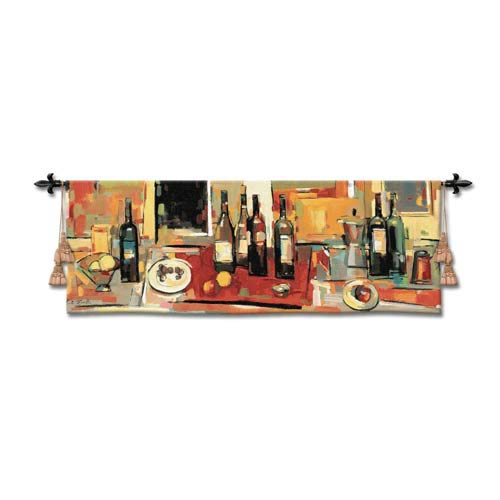 Vin Rouge Panel Woven Wall Tapestry