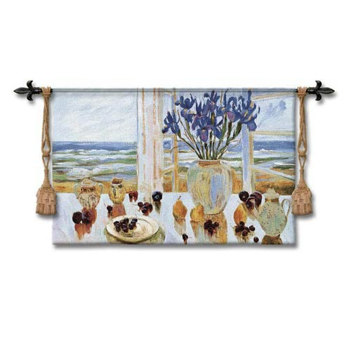 Late Afternoon Irises Woven Wall Tapestry