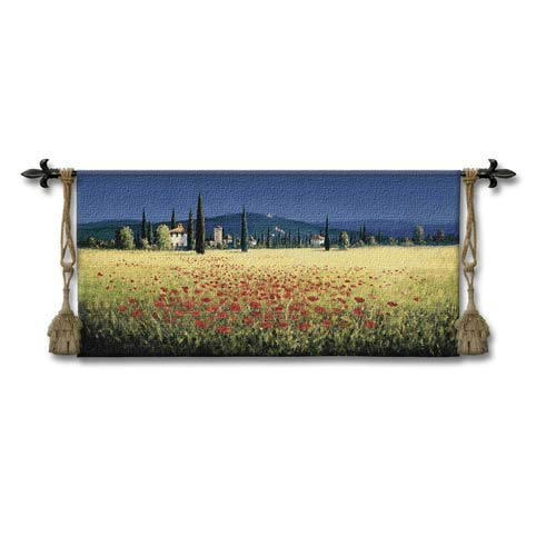Tuscan Pan Poppies Woven Wall Tapestry