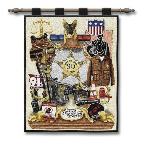 Sheriff Profession Wall Tapestry