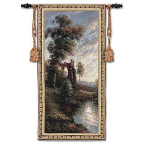 Ancient Ruins II Woven Wall Tapestry