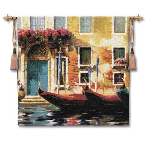 Venetian Gondolas I Woven Wall Tapestry