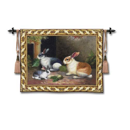 Lapin/Wool Woven Wall Tapestry
