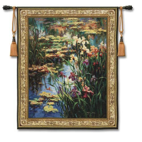 Summer Lily Small Woven Wall Tapestry