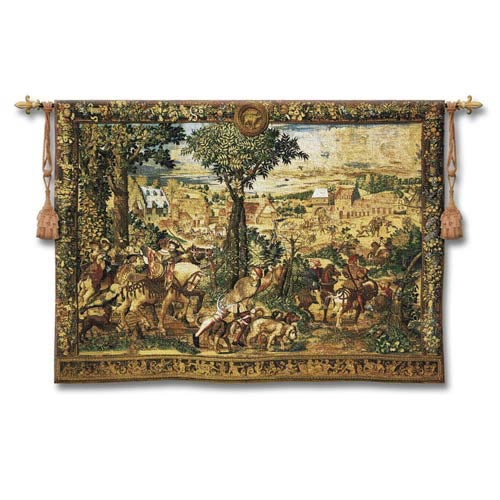 Hunts Of Maximilian Small Woven Wall Tapestry