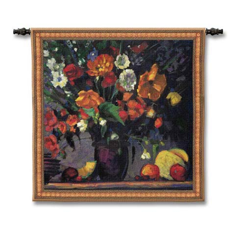 Poppies Woven Wall Tapestry