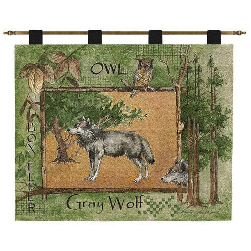 Pure Country Weavers Gray Wolf Wall Tapestry