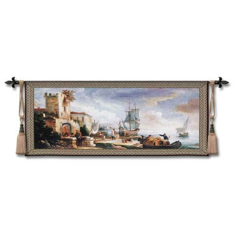 Evening Anticipation Woven Wall Tapestry