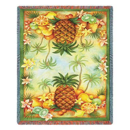 Pineapples and Fruit Throw