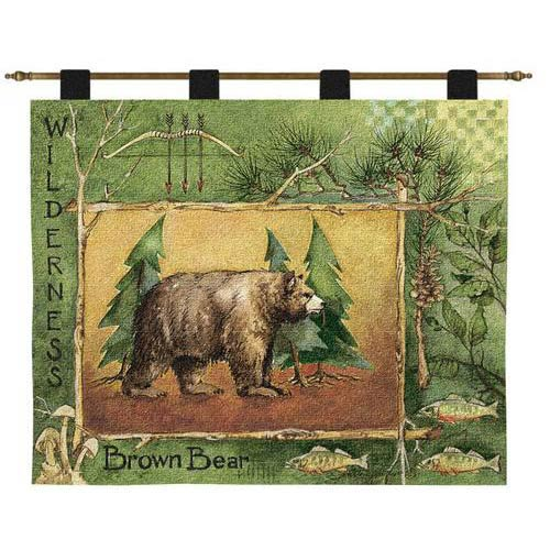 Pure Country Weavers Brown Bear Wall Tapestry
