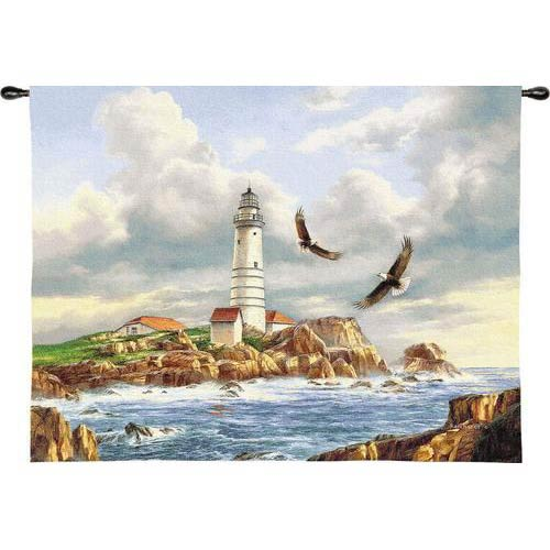 Boston Lighthouse Tapestry Wall Hanging