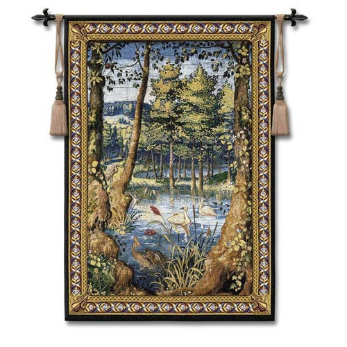 Verdure With Animals Woven Wall Tapestry