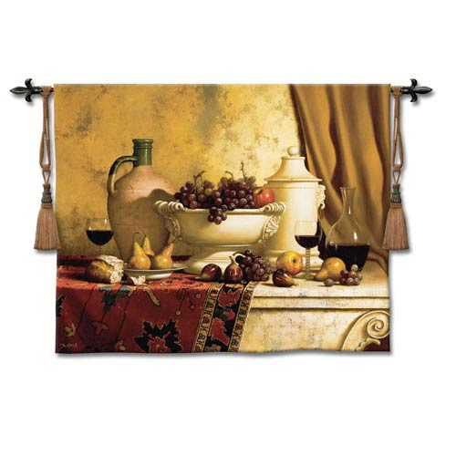 Italian Feast Large Woven Wall Tapestry