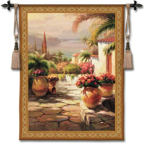 Courtyard View I Woven Wall Tapestry