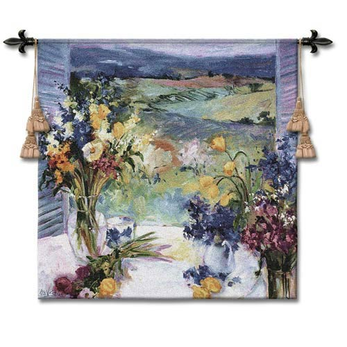 Tuscany Floral Small Woven Wall Tapestry