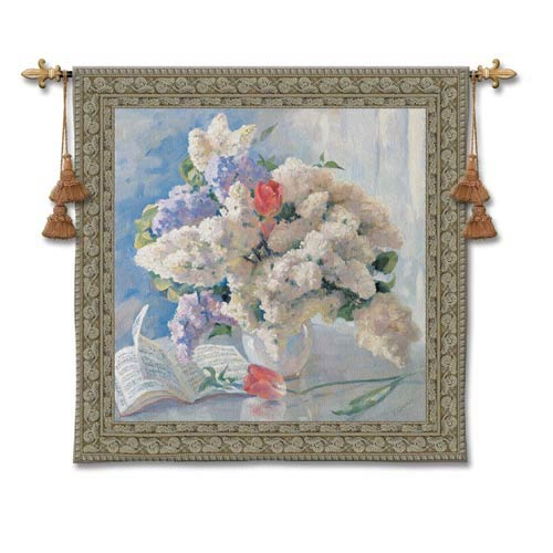 Flowers By Strauss Woven Wall Tapestry