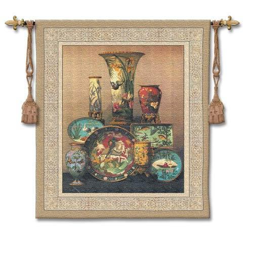 Elkingtons Cloisonne Woven Wall Tapestry