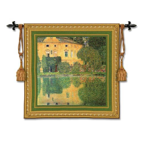 Schloss Kammer Sullattersee Woven Wall Tapestry