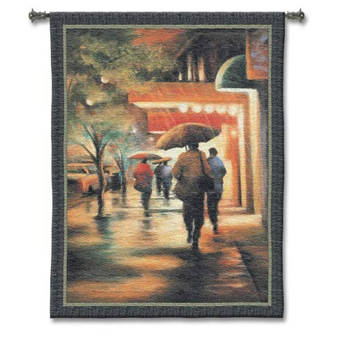 Second Street Drizzle Woven Wall Tapestry