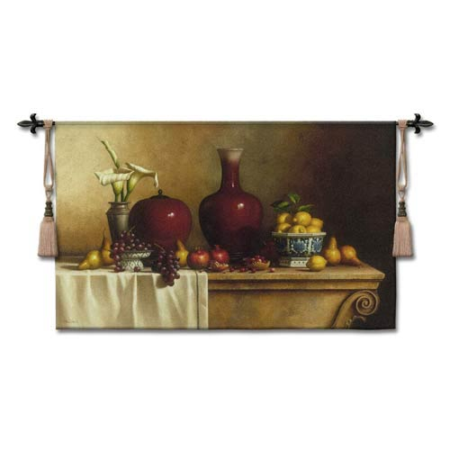 Oriental St Lf/Lilies Large Woven Wall Tapestry