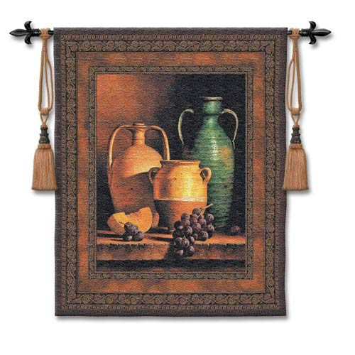 Jugs On A Ledge Woven Wall Tapestry