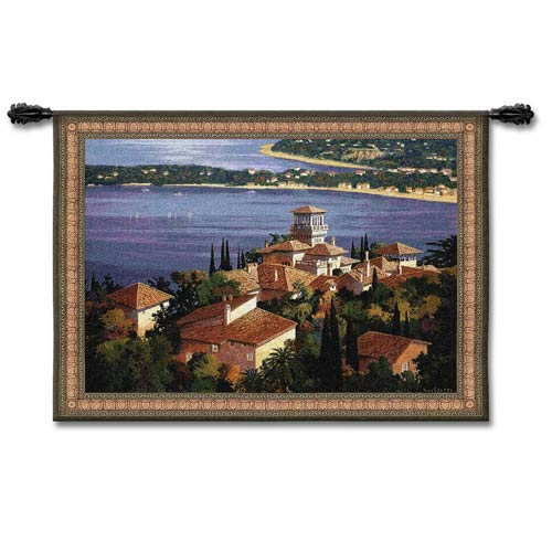 Garden On/Cote Dazur Small Woven Wall Tapestry