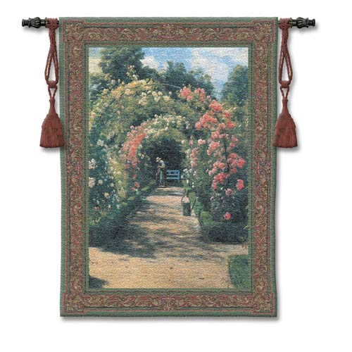 In The Garden Small Woven Wall Tapestry