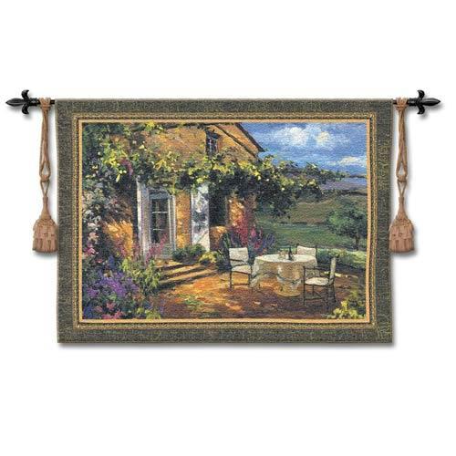 Vineyard Villa Small Woven Wall Tapestry