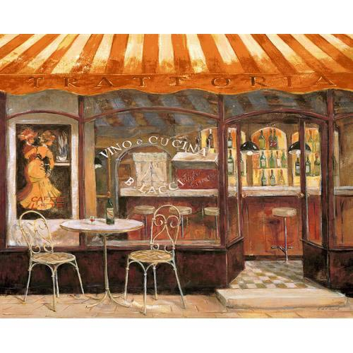 Italian Cafe Tapestry Wall Hanging