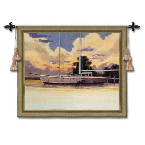 Awaiting Sail Woven Wall Tapestry