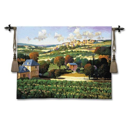 Vineyards Of Provence Woven Wall Tapestry