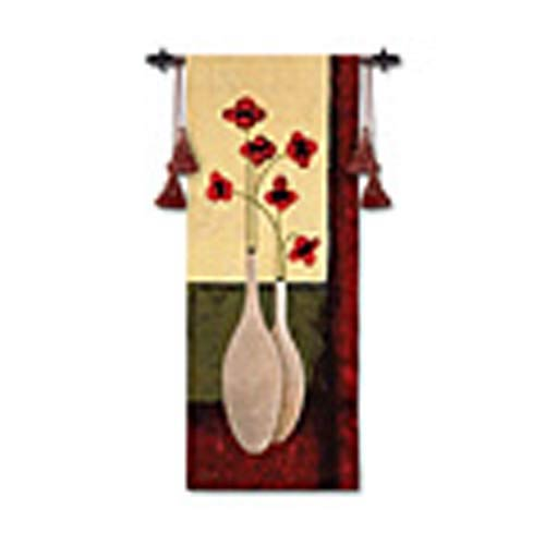 Bouquet De Six Woven Wall Tapestry