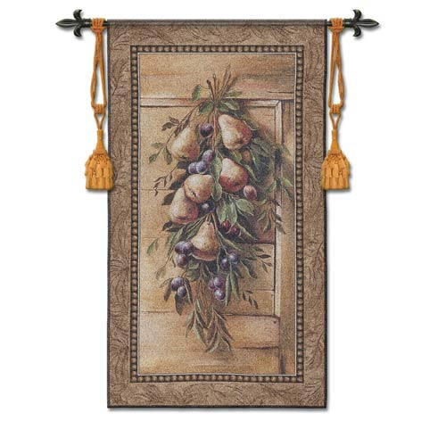 Poetic Pears Woven Wall Tapestry