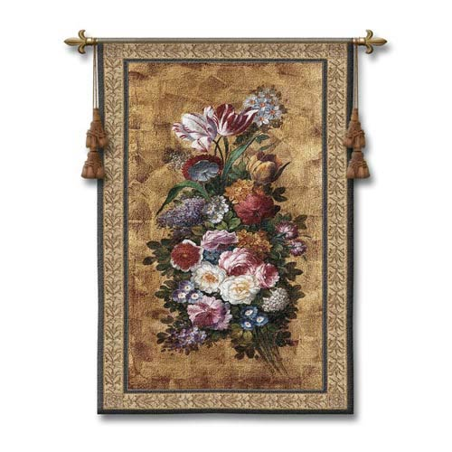 Floral Reflections II Woven Wall Tapestry