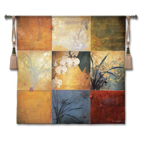 Orchid Nine Patch Small Woven Wall Tapestry