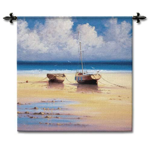 Restful Moorings Small Woven Wall Tapestry