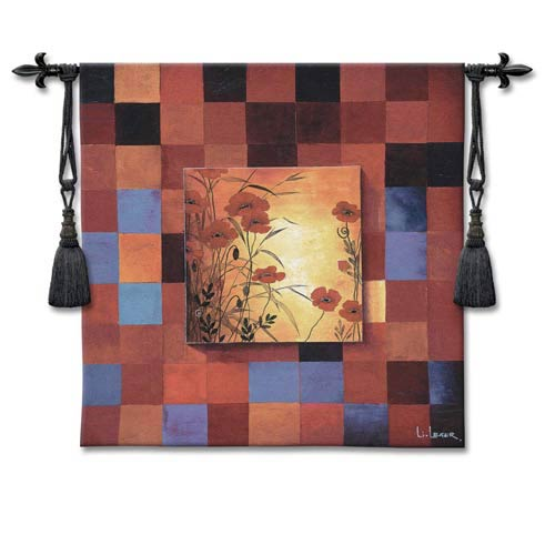 Poppy Patterns Woven Wall Tapestry
