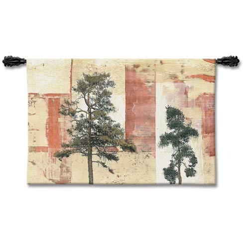 Parchment Trees II Woven Wall Tapestry